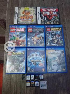 Lote de juegos de PS Vita y 3DS juntos