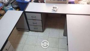 Mueble modular para oficina. Color gris