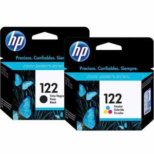 Pack De Cartuchos Originales De Tinta Negra Y Color Hp 122