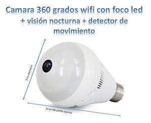 Camara Espia 360 Grados,con Foco,funciona Con App,v Nocturna