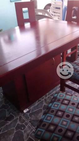 Comedor de seis sillas con alacena