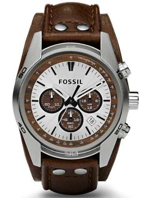 Fossil Cuff Chronograph Leather Ch
