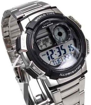 Reloj Casio Aew Acero Caballero Sport Original Nuevo