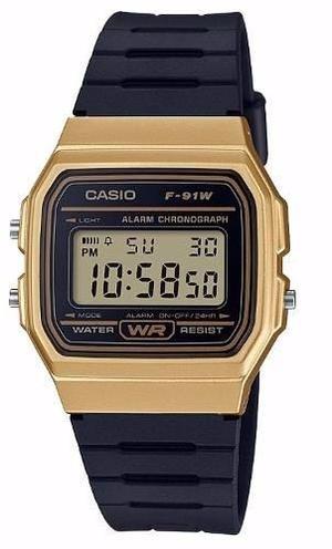 Reloj Casio F91w Dorado Caballero Retro Vintage Original