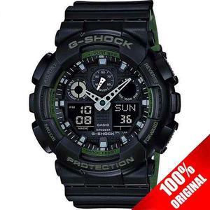 Reloj Casio G Shock Ga 100 Verde/negro Edición Bicolor