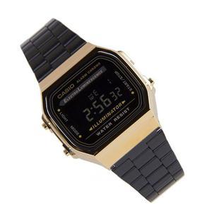 Reloj Casio Negro Dorado Acero Retro Vintage