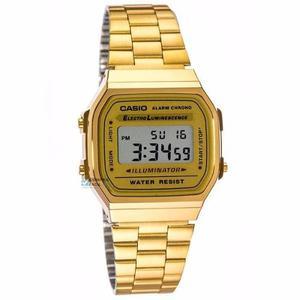 07851934fb15 Reloj casio retro vintage a168 dorado- 100% original cfmx -