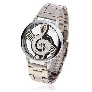 Reloj Clave De Sol Envio Gratis Acero Nota Musical Vintage