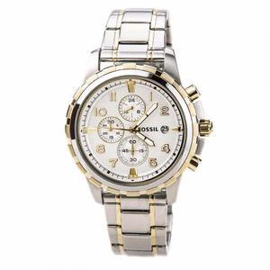 Reloj Fossil Dean Fs Plateado/dorad Cronograph Caballero