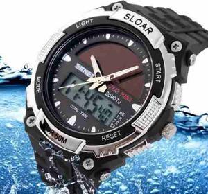Reloj Skmei Solar Anti Shock C Agua Sumergible 50 Metros