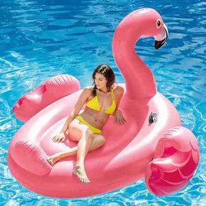 Salvavidas Montable Gigante Flamingo Portavaso Envío Gratis