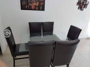 Comedor de cristal templado 6 sillas
