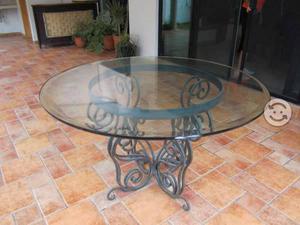 Base para mesa de comedor con cristal posot class - Mesa comedor redonda cristal ...