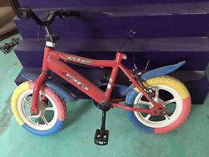 Bicicleta para niños nueva sin asiento