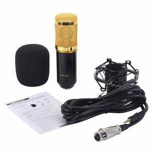 Micrófono Condensador Bm800 + Tarjeta Usb 7.1 C Gratis