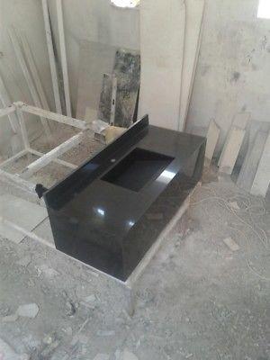 Lavabo de granito con rampa