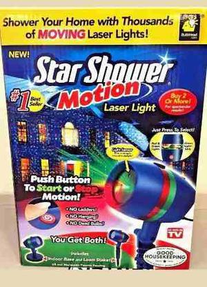 Lluvia Laser Estrellas Star Shower Movimiento Motion Luces