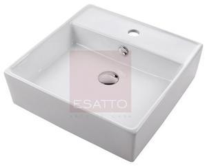 Esatto ® - Ovalin Lavabo De Cerámica Blanca Importado
