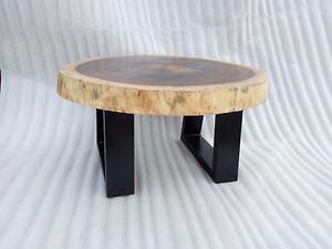 Mesa de centro de madera de parota