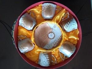 Remate! Hermoso juego de tazas de cerámica, nuevo