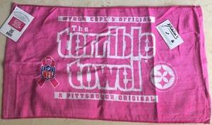 Terrible Towel Toalla Terrible Pittsburgh Acereros Rosa