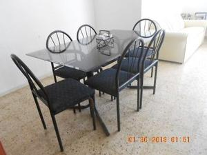 Vendo comedor de seis sillas de medio uso