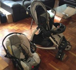 Carriola Graco con asiento de coche para bebé