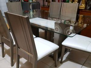 Comedor 6 sillas mesa vidrio NUEVO