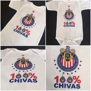 Pañalero Playera Chivas Guadalajara Bebe Talla 3 A 18 Meses