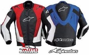 Chamarra Alpinestar Rojo Y Azul Con Joroba Y Protección