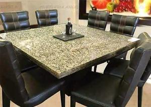 Comedor de 8 sillas con piedra de granito y posot class for Granito brasileno precio
