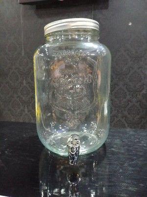 jarra de vidrio con dispensador