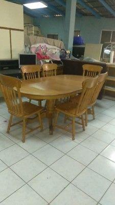 Comedor madera puebla 6 sillas posot class for Sillas comedor sevilla