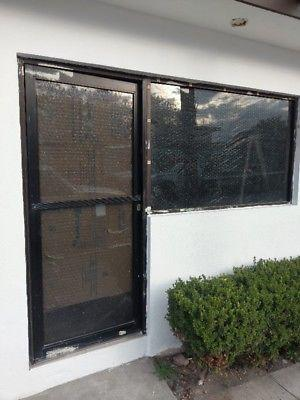 Puerta y ventana de aluminio, vidrio templado
