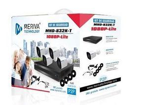 kit de Vigilancia 4 camaras, disco duro y monitor
