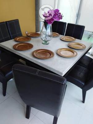 Comedor de mármol para 8 personas