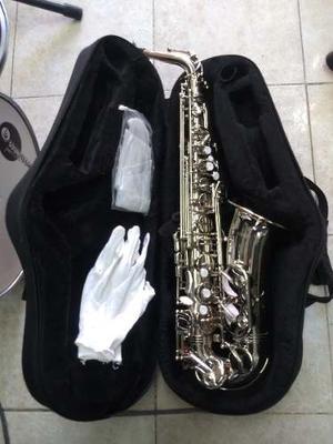 Saxofon Alto Mercury Plata