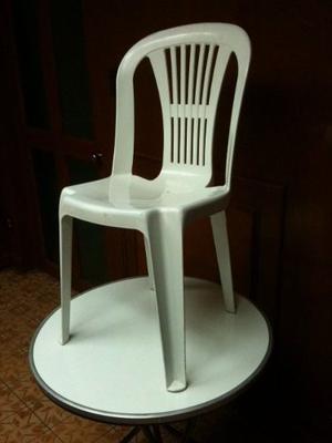 Silla Plastica Plastico Apilable Sin Descansa Brazos Fabrica