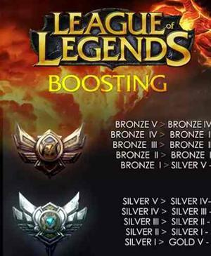 Eloboost League Of Legends Bronce, Plata Y Oro, División