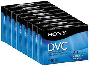 8 Video Cassettes Digital Sony Mini Dv 60min Dvc Dvm60prr C