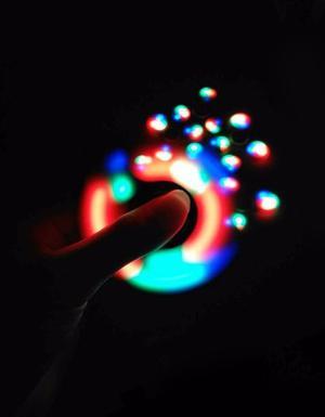Fidget Spinner Led Con Luz Antiestress Ansiedad