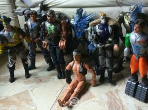 Lote de figuras max steel y action man, usadas