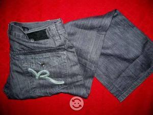ROCA WEAR jeans talla 38x32 nuevo gris vintage