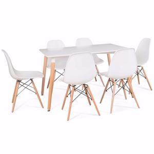 Comedor Eames + 6 Sillas Eames - Excelente Calidad!!!