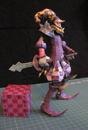 League Of Legends Shaco Royal (modelo Para Armar En Papel)