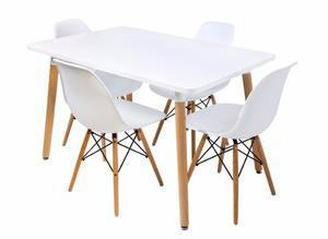 Mesa Comedor Eames Blanco + 4 Sillas - Promoción!!!