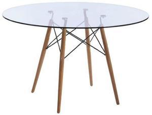 Mesa Comedor Eames Cristal 120 Cm - Promoción!!!
