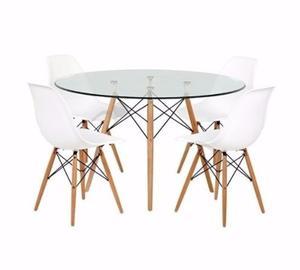 Mesa Eames Cristal + 4 Sillas - Buen Fin!! By Arei Design!!