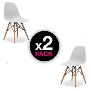 Set De 2 Sillas Eames Blanco O Negro - Promoción!!