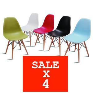 Set De 4 Sillas Eames - Promoción De Remate!l!